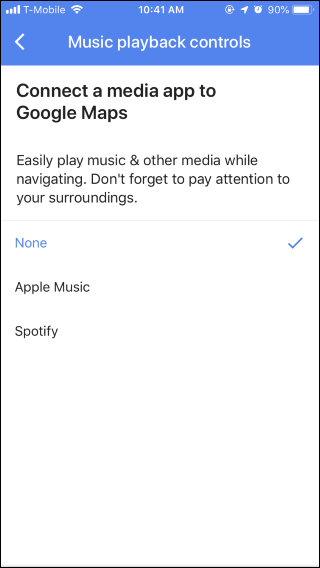 How to Use Google Maps Music Controls for Spotify, Apple Music, or