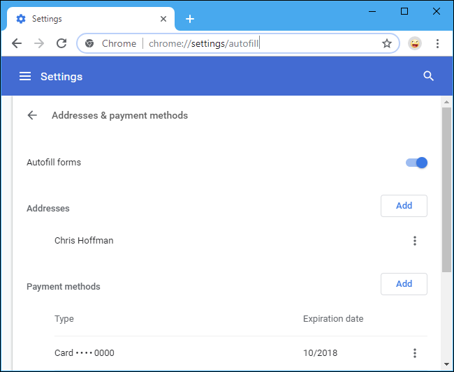 How to Autofill Your Credit Card Number (Securely)