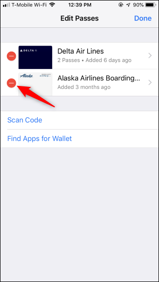 How to Remove Old Boarding Passes From Apple Wallet