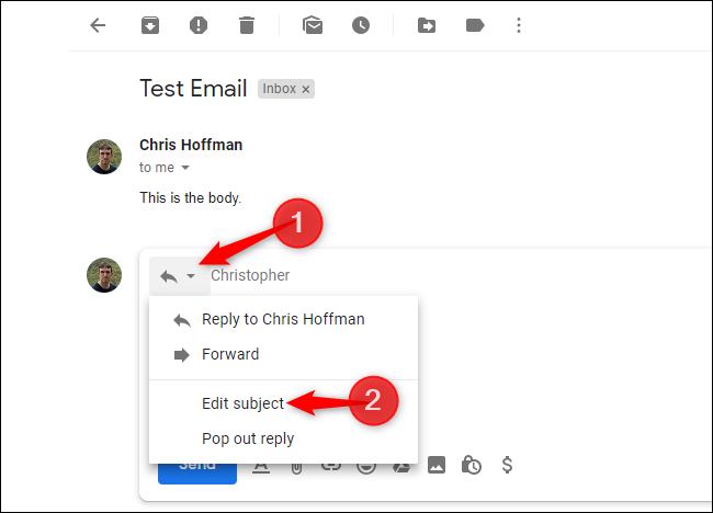 How to Change the Subject Line of a Reply in Gmail