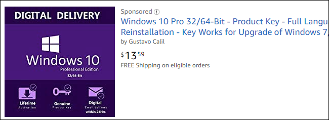 windows 10 pro 64 bit license key amazon