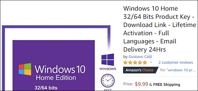 windows 10 product key cost
