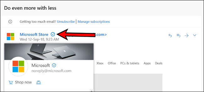 Outlook com is Adding a Verified Icon for Businesses  Will