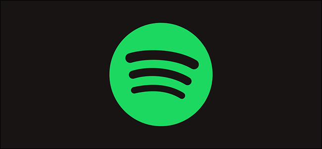 A green Spotify logo on a black background.