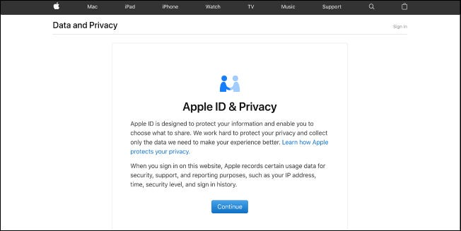 Apple's privacy portal now lets U.S.  customers download their data