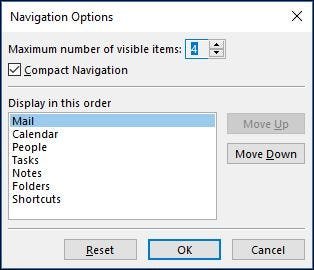 How to Customize the Navigation Pane in Outlook
