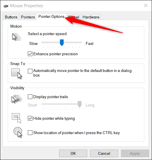 How to Make Your Mouse Pointer Easier to See in Windows 10