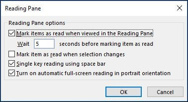 How to Customize the Reading Pane in Outlook
