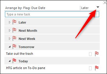 reverse sorting the task list