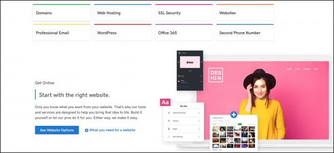 GoDaddy Home Page