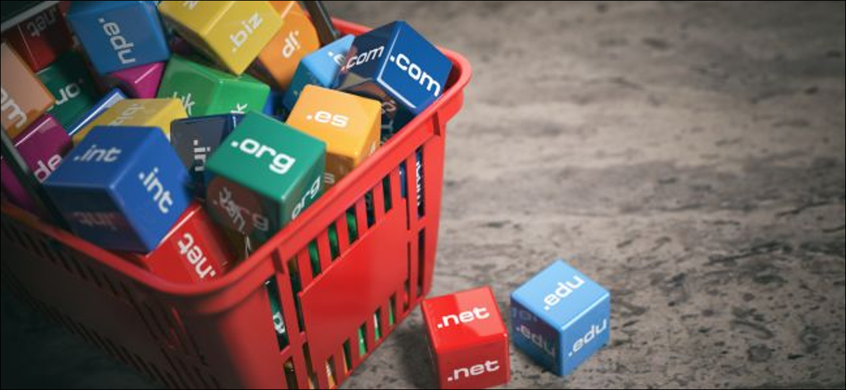 basket full of cubes with top level domains printed on them