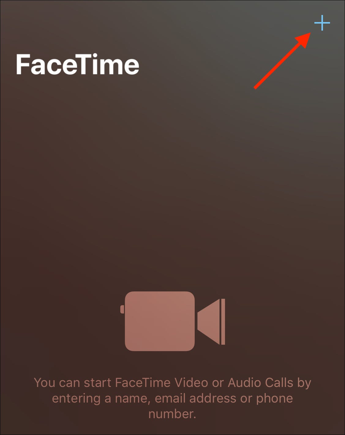 Tap plus icon to start a call