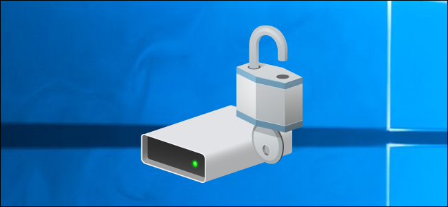 BitLocker drive icon on a Windows 10 desktop.
