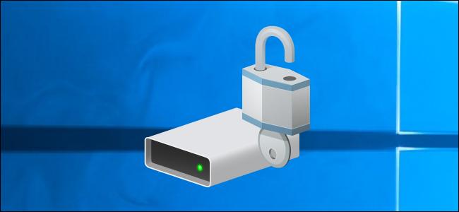 BitLocker drive icon on a Windows 10 desktop.