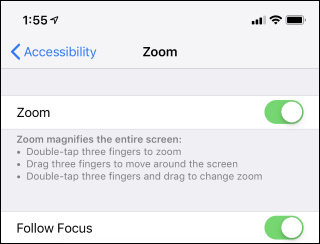 219e4660 ... or double-tap three fingers and drag to change the zoom level. This can  help you see smaller things on your screen, even if an app won't usually  let you ...