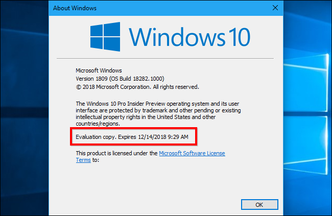 How to Check When Your Windows 10 Build is Expiring