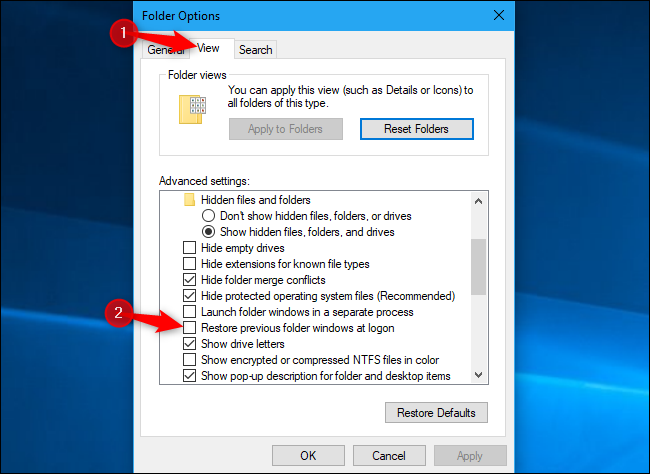 How to Stop Windows 10 From Reopening Your Previous