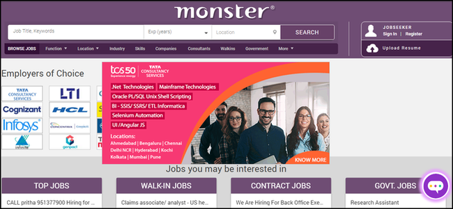 monster-job-search-site-header