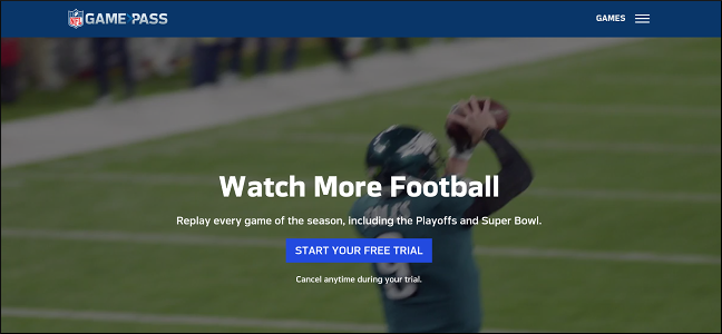 Gamepass website screenshot.