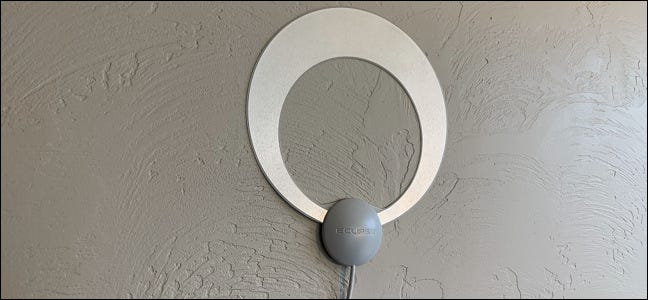 Over-the-air TV antenna.