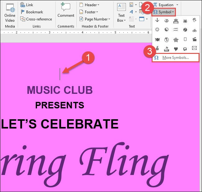 How To Insert Music Symbols In A Word Document