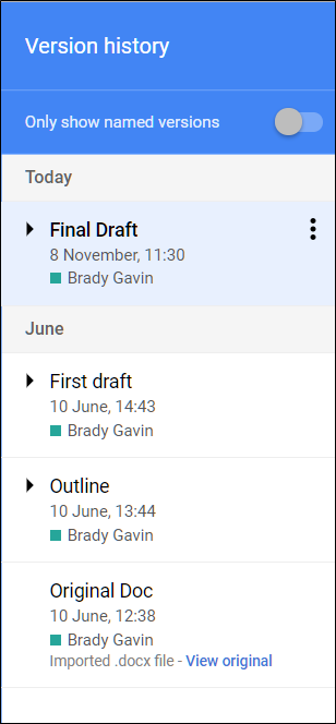 How To Switch To An Earlier Version Of A Google Docs Sheets Or