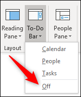 turning off the to-do pane