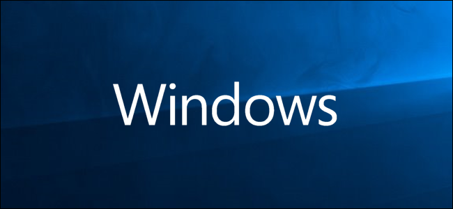 Windows logo on blue background
