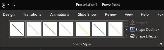 11 format arrow shape