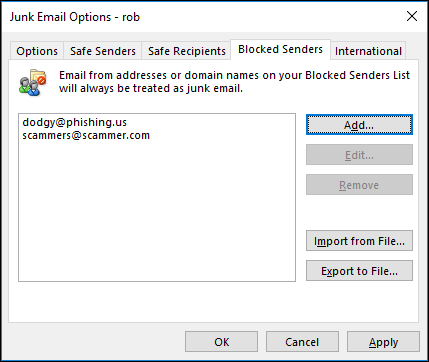 How to Customize Junk Email and Safe Senders in Outlook