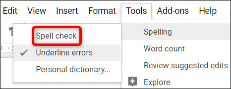 How to check grammar in google docs