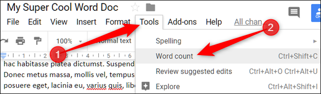 How to Find the Page and Word Count in Google Docs