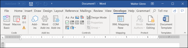 How to Add the Developer Tab to the Microsoft Office Ribbon