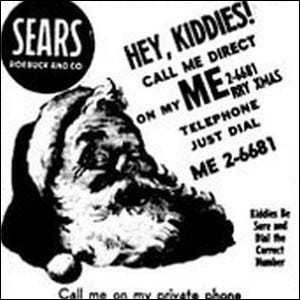 A 1950s-era Sears ad urging kids to call Santa