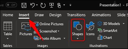 insert shapes