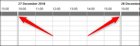 changed hours on outlook calendar