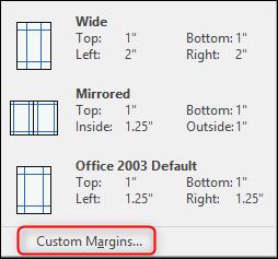 Custom Margins