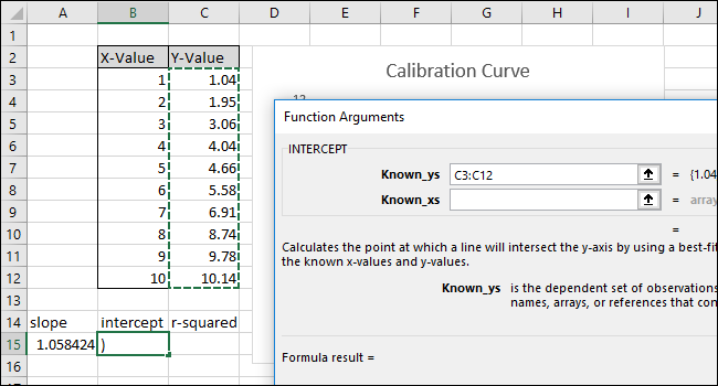 Select or type in the Y-Value column cells