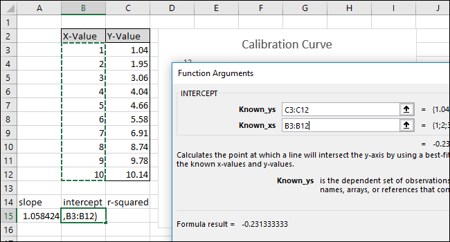 Select or type in the X-Value column cells