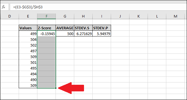 How to Calculate a Z-Score Using Microsoft Excel
