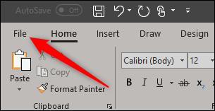 File tab in Word