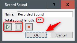 Finish recording audio
