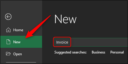 New - Invoice search