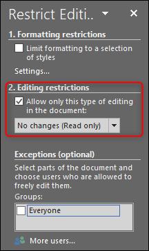 Restrict permissions 2