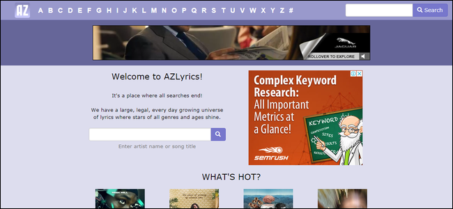 azlyrics find song lyrics