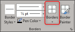 borders options