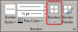 borders options