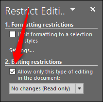 editing restrictions