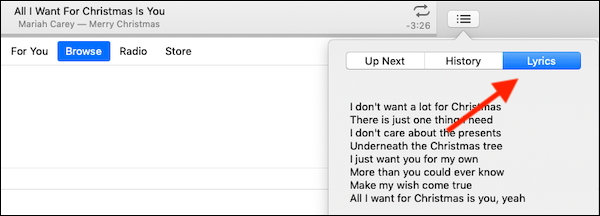 I Dont Want Alot For Christmas Lyrics.How To View Song Lyrics On An Iphone Ipad Mac Or Apple Tv