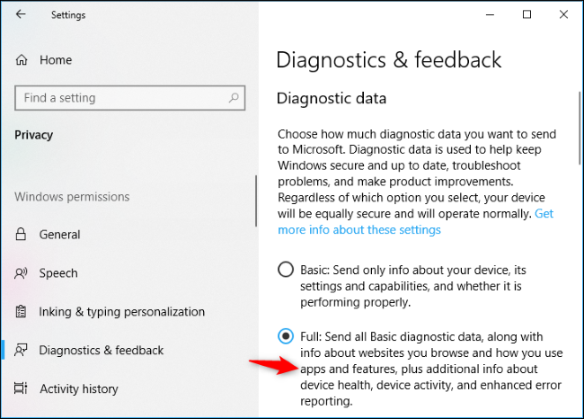 Windows 10 Sends Your Activity History to Microsoft, Even if You